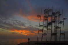 Installation by Georgios Zoggopoulos, Thessaloniki, Greece Night After Night, Can Lights, Stars At Night, Milky Way, All Over The World, Love Of My Life, Greece, Beautiful Places, To Go