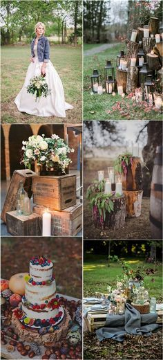 Outdoor Country Rustic Wedding Decor Ideas / http://www.deerpearlflowers.com/country-rustic-wedding-ideas-and-themes/2/