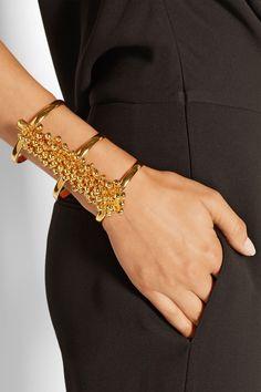 Paula Mendoza   Fishbone of Grapes gold-plated cuff   NET-A-PORTER.COM