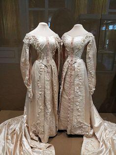 Court dresses of Grand duchesses Olga and Tatiana. 1913 .