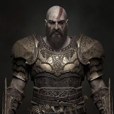 Definitely my favorite characther, kudos to all the people who worked on God of War! If you like it, here there' s the set of Metals Smart Material that I created for this project; Mortal Kombat, Armadura Viking, Narnia 2, Odin Norse Mythology, Vikings, Cry Anime, Anime Art, Kratos God Of War, Girls Anime