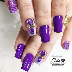 Fancy Nails, Trendy Nails, Cute Nails, Nail Polish Designs, Nail Art Designs, Nails Design With Rhinestones, Xmas Nails, Gelish Nails, Instagram Nails