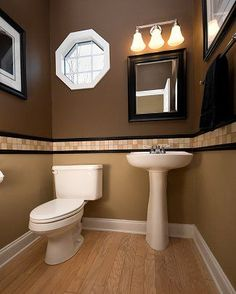 Small Powder Room Ideas | Consider how long you plan on staying in your home and make prudent ...
