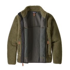 The Patagonia Men's Classic Retro-X® Jacket is a warm, windproof polyester recycled) bonded sherpa fleece jacket for cool, blustery weather. Mens Sherpa, Mens Fleece, Men's Coats And Jackets, Fleece Jackets, Outdoorsy Style, Cool Gifts For Kids, Trench Coat Men, Hunting Jackets, Mens Fall