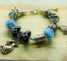 Life's a Beach Adjustable Bracelet Gift by BlingItOutLoudCharms