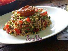 SaraVeg: Orzo con rucola e crema di peperoni - Vegan