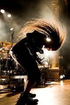 Head banging against the light - Concert Photography