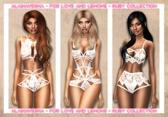 "alainavesna: "" For Love and Lemons - Ruby Collection This is the second part in a series of mini collections I'm making from this brand. You can find the first part here. - Brand new 5 piece collection for female sims - 2 bras, 2 panties and 1..."