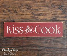 Kiss The Cook Sign Home Decor Kitchenkitchen