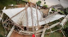 An architectural prototype that explores fabric forming techniques for thin shell concrete structures in Bangalore India. Form work is one of the most expensive aspects of concrete construction, as you have to build two structures to achieve the...
