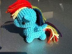 Custom crochet chibi amigurumi pony. $28.00, via Etsy.