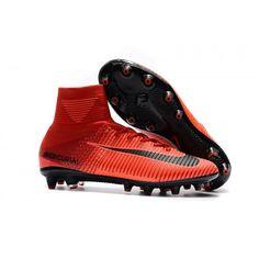 low priced 70681 8c279 Billiga fotbollsskor丨rea på fotbollsskor med strumpa på nätet. NIke  Mercurial Superfly V AG Fotbollsskor Röd och svart