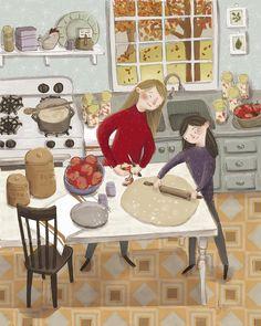 Buch Design, Autumn Art, Children's Book Illustration, Winter Illustration, Grafik Design, Whimsical Art, Belle Photo, Cartoon Art, Cute Drawings