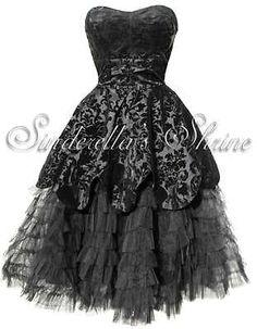 HELL BUNNY Black Victorian ~LaViNTaGe~ Steampunk Gothic Dress 6-20