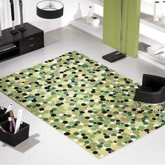 impressionnant  tapis salon vert