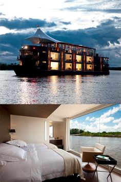 Floating Hotel - Peru - Amazon River Oh yeah, This is on the top of the list! Just starts at $2550.
