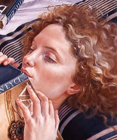 Francine Van Hove French contemporary, born Obsessive in subject matter. A fine artist and draughtsman but seen one, seen them all. People Reading, Book People, Reading Art, Woman Reading, Paintings I Love, Beautiful Paintings, How To Read People, Portraits, Art Graphique