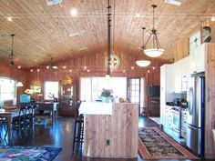 A Metal Sided pole barn Interior photo Home Pinterest