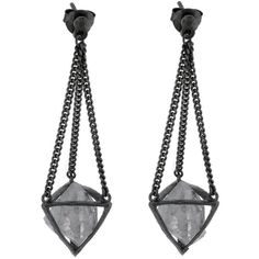 Earrings 407, Black Silver, 925 Sterling Silver (5 090 UAH) ❤ liked on Polyvore featuring jewelry, earrings, accessories, joias, jewels, earrings jewellery, sterling silver jewellery, earring jewelry, black silver earrings and sterling silver jewelry