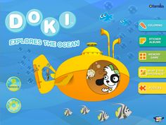 Discovery Kids Activity Book - Doki Explores the Ocean <p>Your child will be immersed in the fun of exploring the ocean with Doki in this engaging activity book app from Discovery Kids and LivoBooks. Children go along for a ride with Doki in his submarine and interact with sea creatures large and small—from seahorses to whales—while building and practicing essential learning and motor skills. <p>Features <p>➢Coloring feature—use on-screen tools to color underwater creatures like turtles…