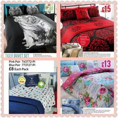 Bedding available. Contact me for stock and to order. Duvet Sets, Comforters, Bedding, Internet, Blanket, Pink, Blue, Furniture, Home Decor