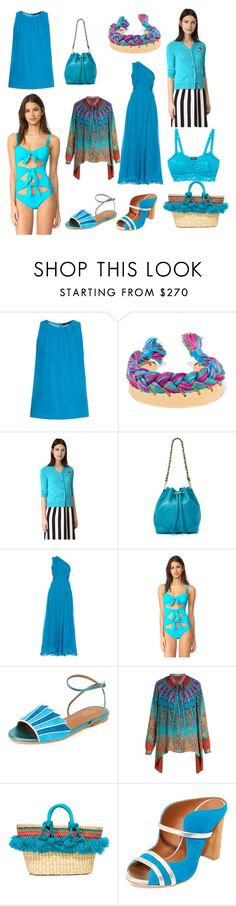 """""""Sky blue Fashion"""" by cate-jennifer ❤ liked on Polyvore featuring Etro, Aurélie Bidermann, Marc Jacobs, Diane Von Furstenberg, Moschino, Malone Souliers, Nannacay and Cosabella"""