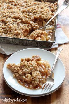 Apple-pear crisp recipe from @bakedbyrachel