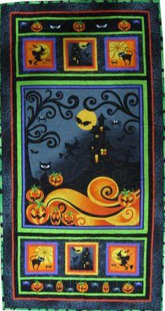 Halloween Quilt For Hanging or Table Runner | SieberDesigns - Seasonal on ArtFire