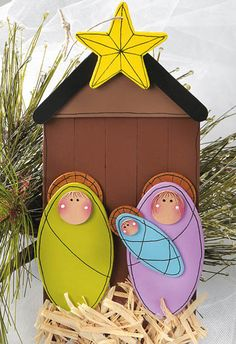 Wooden Nativity Ornament  Posted on December 12, 2012  Crafts 'n things Craft of the Day       A simple Nativity is the perfect ornament gift to help reflect on the true meaning of Christmas!