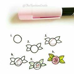 Rose doodle art Flower