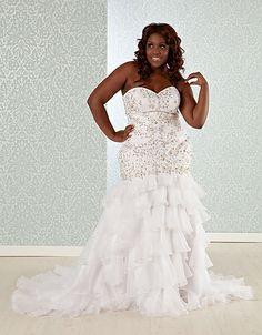 $500 OFF MEMORIAL DAY SALE! Savannah | Mermaid Wedding Dress size 10-30          www.real sizebride.com