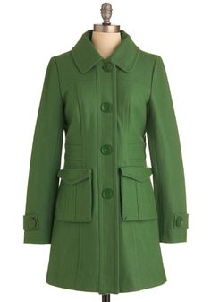 Senior Copy Writer Coat in Grass - Beautiful Structure with an Unexpected Color