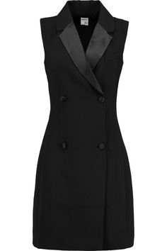 Shop on-sale Iris and Ink Satin-trimmed crepe tuxedo dress. Browse other discount designer Dresses & more on The Most Fashionable Fashion Outlet, THE OUTNET.COM