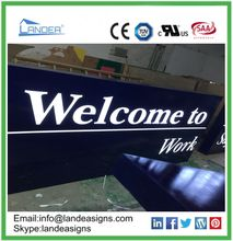 outdoor advertising sign company illuminated pylon sign with 5 years warranty