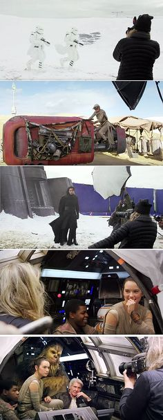 Star Wars - Episode VII: The Force Awakens / Behind the scenes.