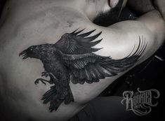 """7,316 Likes, 22 Comments - Rob Borbas (@grindesign_tattoo) on Instagram: """"Raven from last year. @rookletink #h2oceanproteam #kwadron"""""""