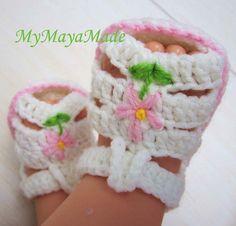 flower baby sandals