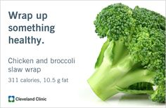 Chicken and Broccoli Slaw Wrap: Try this easy spring meal, made with # ...