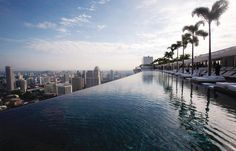Sands SkyPark Infinity Pool, 57th Floor, Marina Bay Sands Singapore.