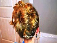 Cute Easy Messy Bun Hairstyle Video Tutorial