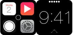 Скриншоты интерфейса Apple iWatch