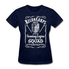 Fashionable Womens Quality Scouting Legion 100% Cotton Shirts Woman Short Sleeves Crewneck customize a t shirt