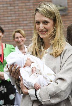 Former journalist Lili with her newborn daughter Anna Astrid