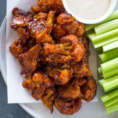Baked Spicy Honey BBQ Cauliflower Wings |