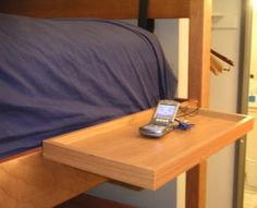 BunkPal - Bed shelf for your Bed, BunkBed, College Dorm Room, Attachable, fits any bed perfectly