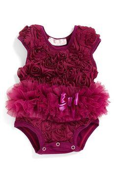 Popatu Ribbon Rosette Flower Bodysuit (Baby Girls) available at #Nordstrom