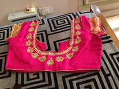 B Blouse Patterns, Saree Blouse Designs, Pink Saree Blouse, House Of Blouse, Hand Embroidery Dress, Work Blouse, Sarees, Reception, Blouses