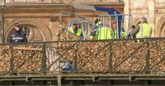 Milhares de 'cadeados do amor' são retirados de ponte de Paris