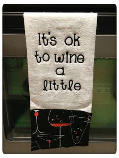 Wine Themed Kitchen Flour Sack Towel by RaleighGram on Etsy, $11.99