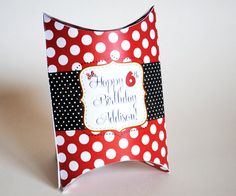 Pillow Pouch Favor Box Inspired by Minnie Mouse  by LisaKaydesigns, $8.00